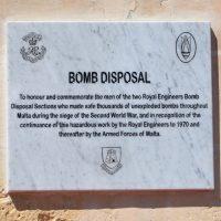 Bomb Disposal Plaque Event – Valetta, Malta